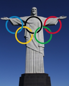 Christ the Redeemer Rio and Olympic Rings 2016