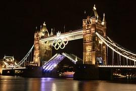 Olympic Games 2012 Rings on Tower Bridge