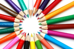 colouring pencils world mental health day
