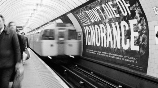 world aids day tube advertising